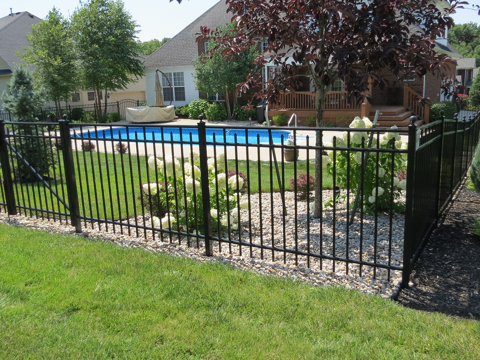 maintenance-free, aluminum fencing
