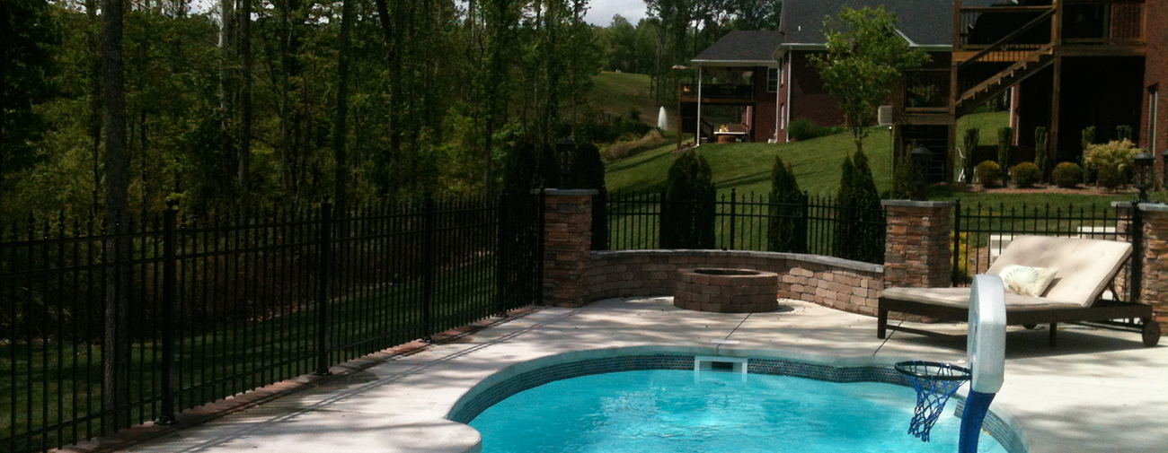residential maintenance-free, aluminum fencing